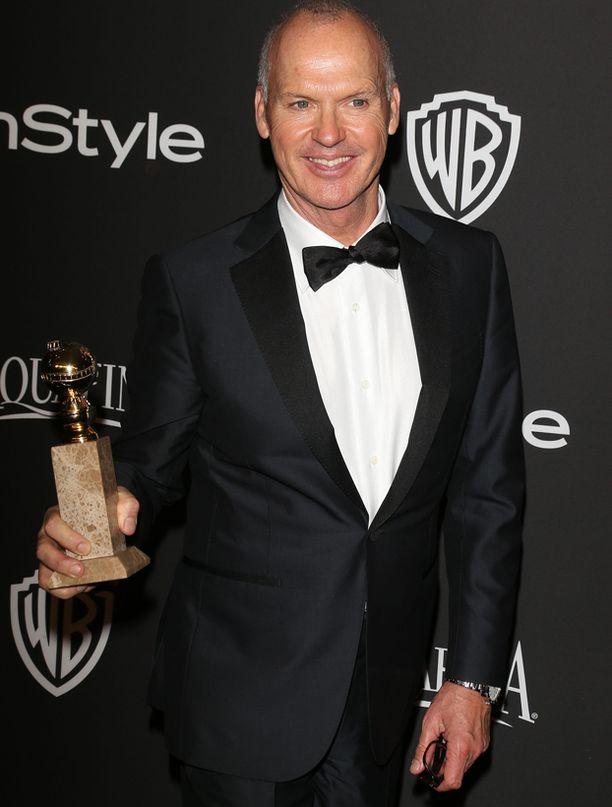 Michael Keaton sai Birdman-roolistaan Golden Globe -palkinnon.