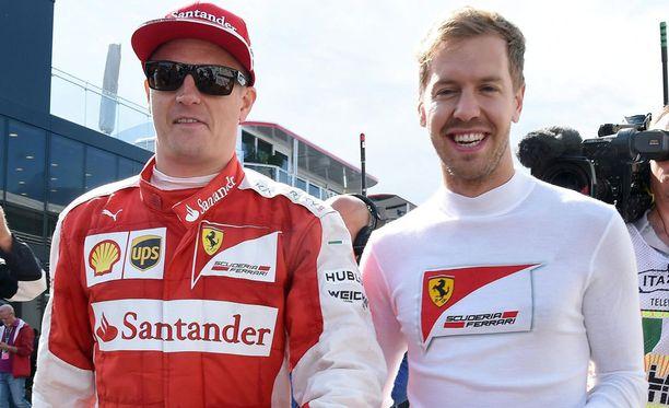 Kimi Räikkönen oli nopeampi kuin Sebastian Vettel.