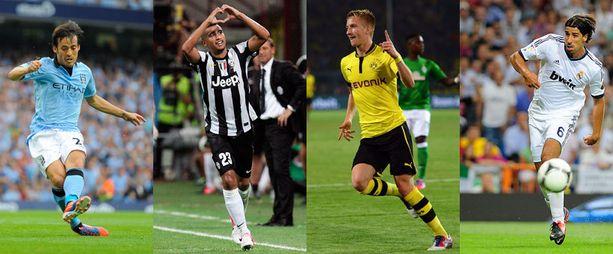 Manchester City, Juventus, Borussia Dortmund ja Real Madrid saattavat pelata samassa alkulohkossa.