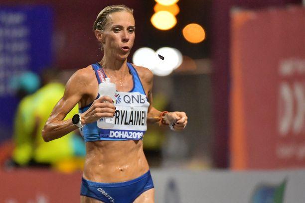 Anne-Mari Hyryläinen juoksi hienosti MM-maratonilla.