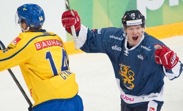 Miro Aaltonen osui Karjala-turnauksessa kahdesti.