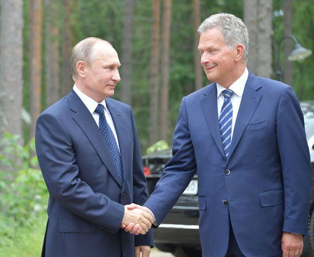 Vladimir Putin ja Sauli Niinistö Punkaharjulla vuonna 2017.