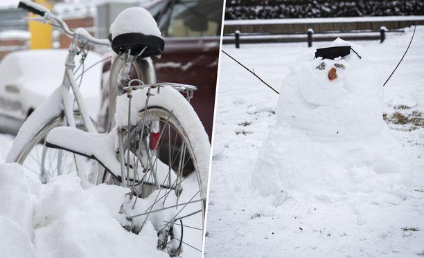 Pian pyryttää lunta, ja osaan Suomea jopa yli 30 senttimetriä.