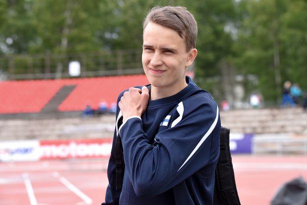 Simo Lipsanen suoriutui Timanttiliiga-debyytistään tuloksella 16,81.