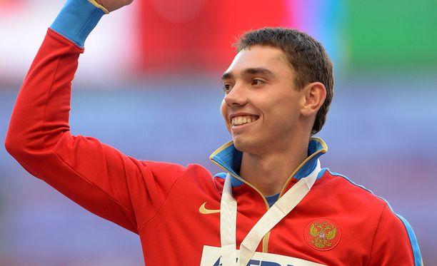 Aleksandr Menkov voitti pituushypyn MM-kultaa vuonna 2013.