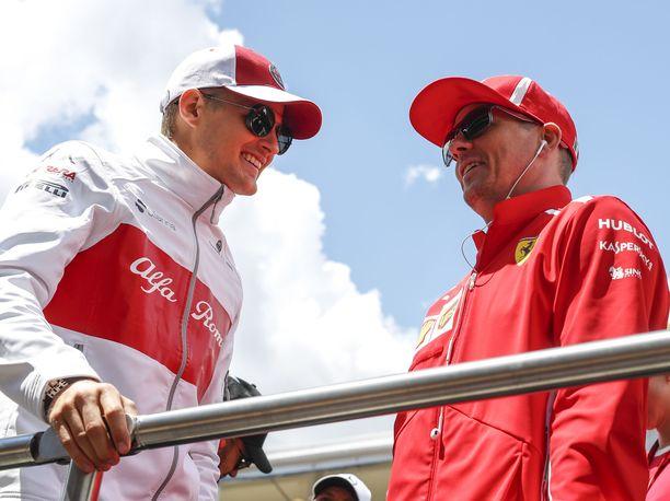 Kimi Räikkönen vei Marcus Ericssonin työpaikan Sauberilla.