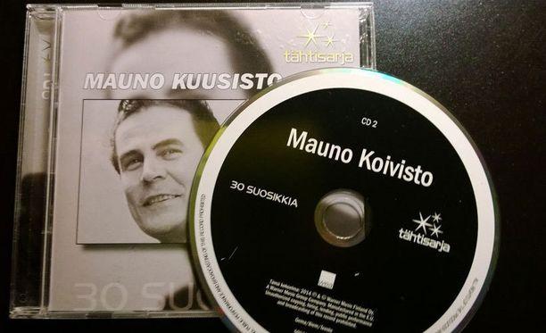 Virheellisesti painettuja Mauno Kuusiston cd-levyjä on muutama sata.