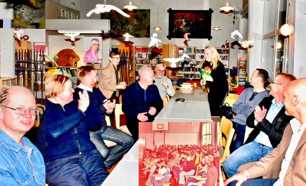Leinosten ja heidän entisten oppilaiden luokkakokous järjestettiin Kauniaisten Mäntymäen koululla. Kuva koululta 26. tammikuuta.