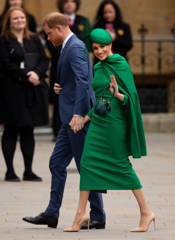Prinssi Harry ja herttuatar Meghan asuvat nykyään Yhdysvalloissa.