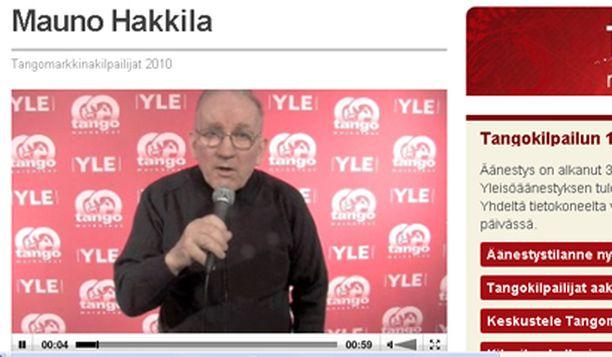 Tango-kilpailija Mauno Hakkila on kerännyt parissa viikossa yli 10 100 ääntä.