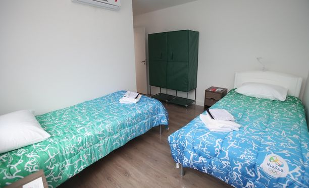 Tältä näytti normaali huone Rion olympiakylässä.