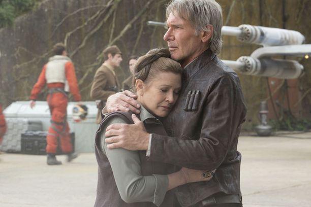 Ford ja Fisher näyttelivät yhdessä viime vuoden Star Wars: Episode VII - The Force Awakens -elokuvassa.