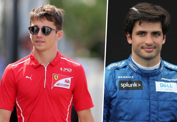 Kaikki viittaa siihen, että Charles Leclerc (vasemmalla) saa päähuomion Ferrarilla ja Carlos Sainz niin sanotusti soittaa kakkosviulua.