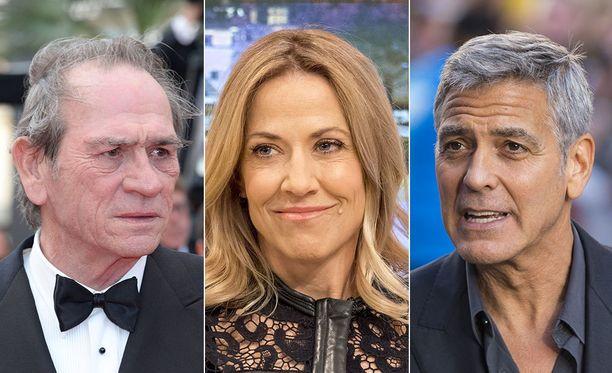 Tommy Lee Jones, Sheryl Crow ja George Clooney sporttasivat nuorempana.