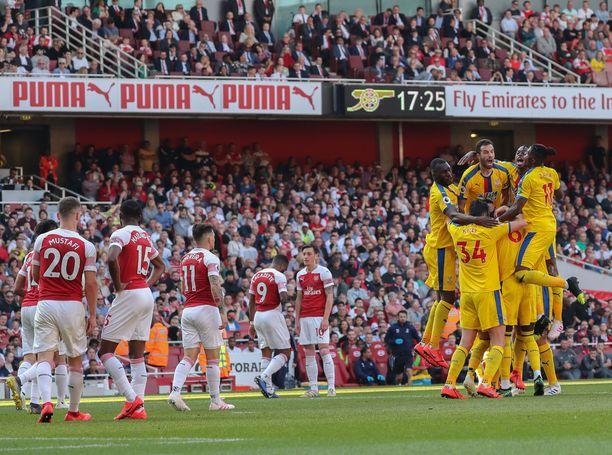 Crystal Palace juhli Arsenalin kustannuksella.