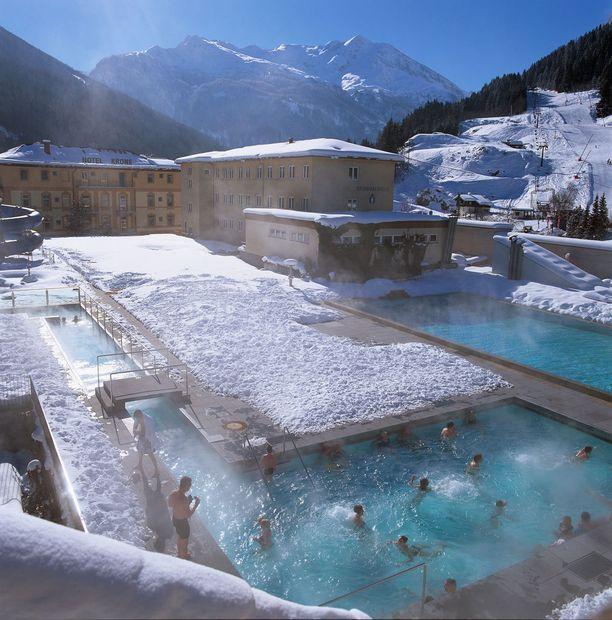 Bad Gasteinissa voi myös nauttia kylpyläelämyksistä.