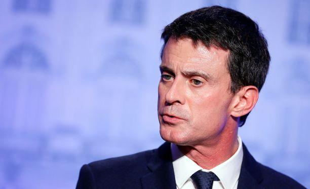 Pääministeri Manuel Valls pyrkii Ranskan presidentiksi.