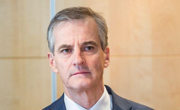 Työväenpuolueen puheenjohtaja Jonas Gahr Störe on tunnustanut vaalitappion.