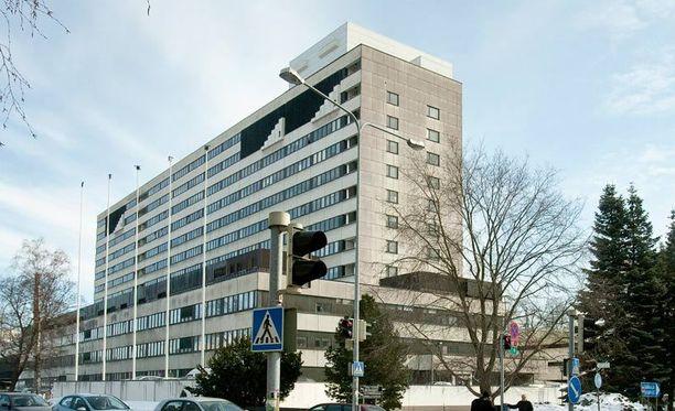 Kuvassa Turun yliopistollinen sairaala, jonne viruksen saaneita lapsia on viety hoidettavaksi.