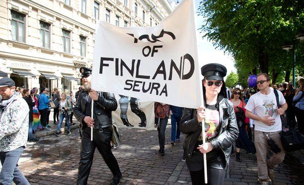 Tom of Finland -seura oli mukana marssilla.