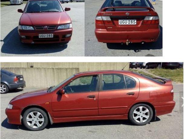 Poliisi etsi punaista Nissan Primeraa murhiin liittyen. Lauantaina iltapäivällä auto löytyi palamaan sytytettynä Toijalasta.