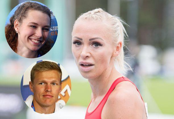 Muun muassa Annimari Korte (keskellä), Ella Junnila ja Topi Raitanen kilpailevat sunnuntaina Superliigassa.