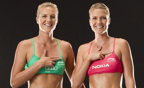 Erika ja Emilia Nyström ovat beach volley -ammattilaisia.