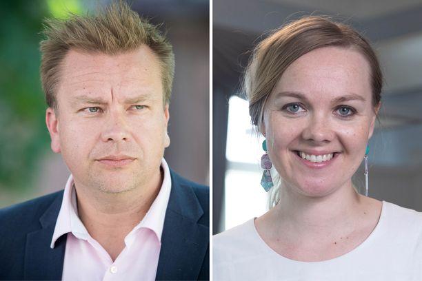 Antti Kaikkonen ja Katri Kulmuni ovat ehdolla keskustan seuraavaksi puheenjohtajaksi.