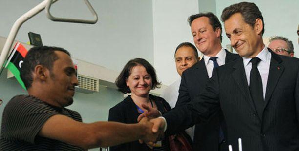 Valtionpäämiehet vierailivat Tripolin keskussairaalassa.