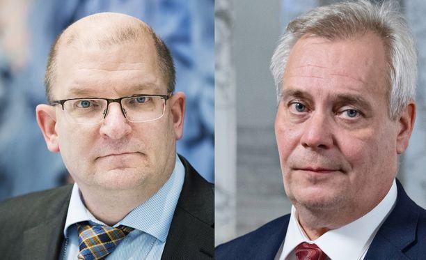 Riku Aalto (vas.) ja Antti Rinne ovat olleet lakkokeskustelun etulinjassa.