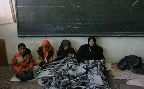 Palestiinalaiset olivat hakeutuneet kouluun suojaan taisteluilta.
