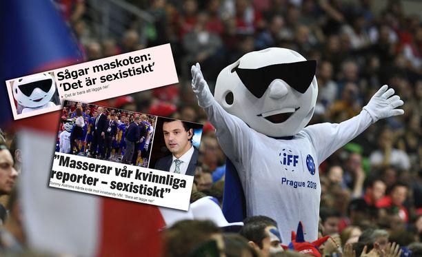 Ruotsalainen tv-kasvo Tommy Åström kritisoi salibandyn MM-kisojen maskotin käytöstä.