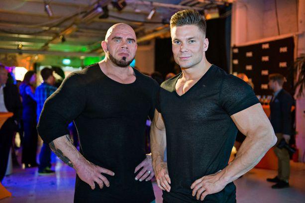 """Jari """"Bull"""" Mentula ja Vertti Harjuniemi ovat tähdittäneet treenaukseen keskittyviä ohjelmia televisiossa."""