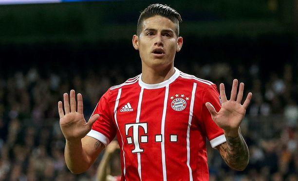 James Rodriguez iski Bayernin avausmaalin.