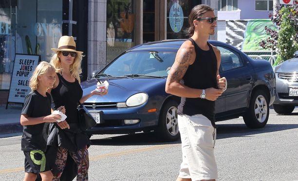 Zlatan, Helena ja Maximilian bontattiin viime kesänä Kaliforniassa.