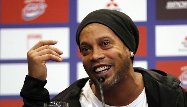 Ronaldinho on vangittuna Paraguayssa.