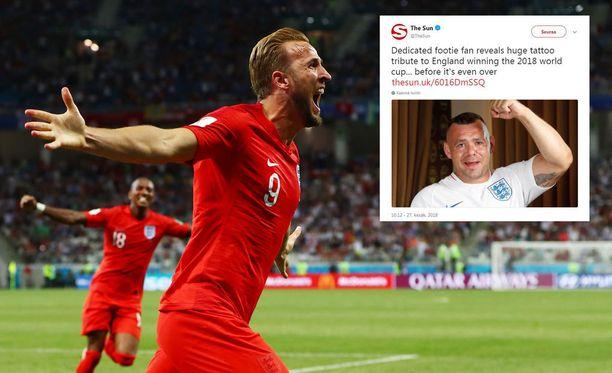 Harry Kane on johdattanut Englannin liitoon, joka herätti kovan luottamuksen yhdessä fanissa.