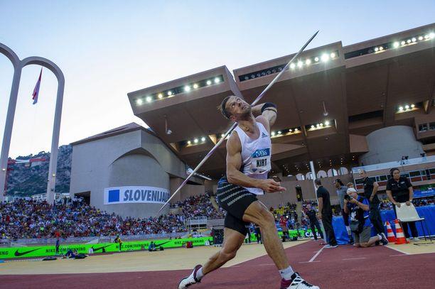 Magnus Kirt on tämän kauden ykkönen maailmantilastossa tuloksella 90,61.