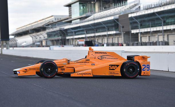 Fernando Alonso ajaa Indianapolis-kisan Andretti Autosport -tallissa.