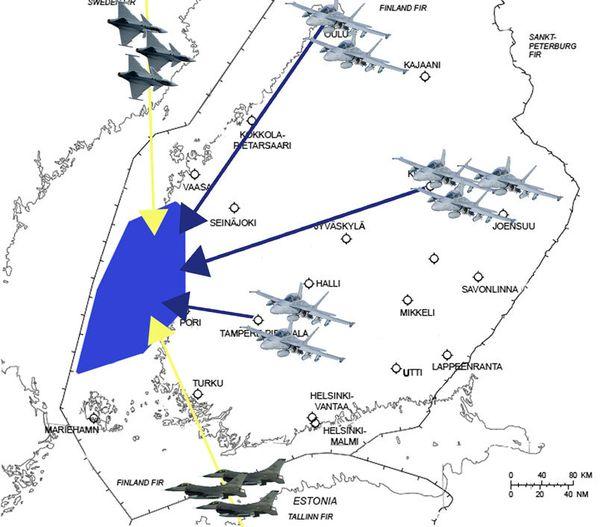 Ilmavoimat julkaisi aiemmin kuvan ilmaharjoituksen alueesta. Harjoitus järjestetään maalis-huhtikuussa.