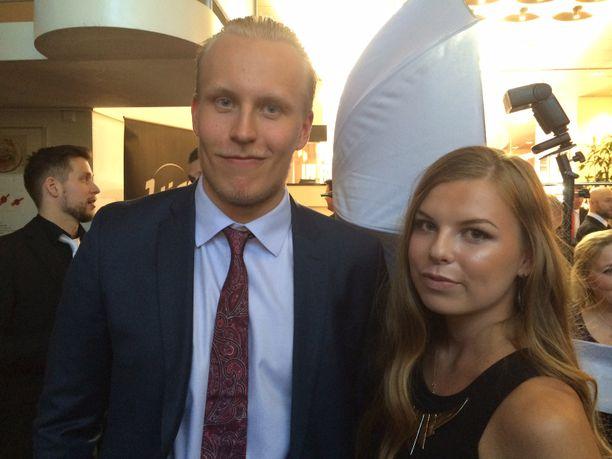 Patrik Laine ja Sanna-Mari Kiukas ovat olleet yhdessä vuodesta 2016 lähtien.