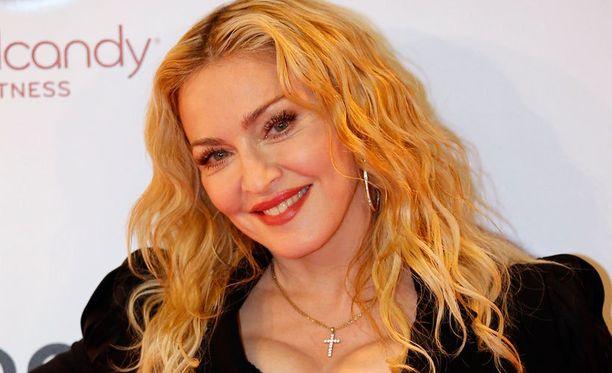 Madonna helmikuussa uuden kuntosalinsa julkistustilaisuudessa.