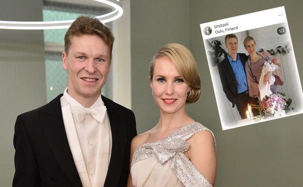 Toni ja Heidi Niemisen heinäkuussa syntynyt tytär on saanut nimen.