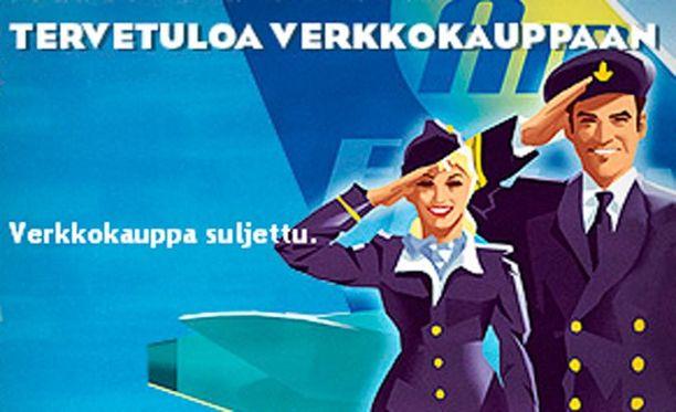 Air Finlandin nettisivuilla kerrotaan, että yhtiön verkkokauppa on suljettu.