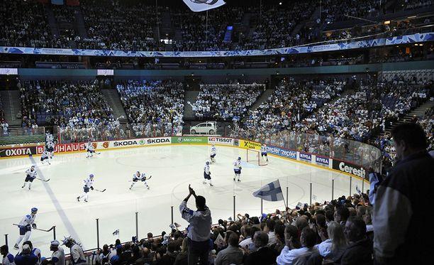 Hartwall-areena on ollut Leijonien kotipesä 20 vuoden ajan. Kuva vuoden 2012 kotikisoista.