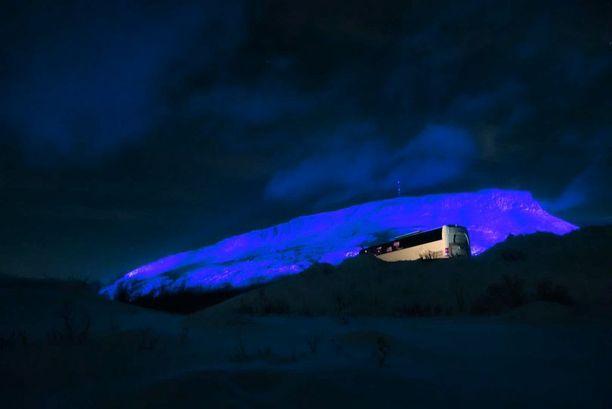 Saana-tunturi on maailman suurin valotaideteos.