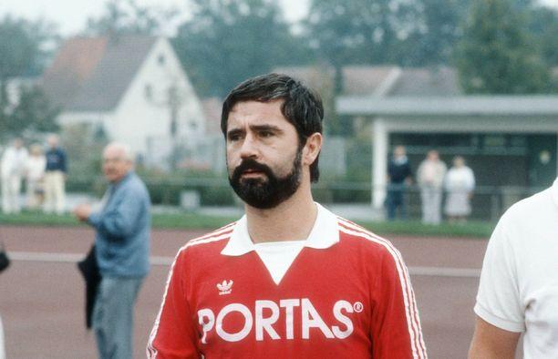 Gerd Müller on yksi kaikkien aikojen hyökkääjistä. Kuva vuodelta 1985.