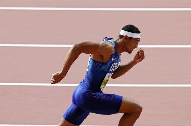 Michael Norman kisasi viime vuonna Dohan MM-kilpailuissa 400 metrillä. Sijoitus oli 22:s.