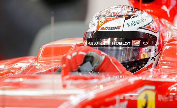 Kimi Räikkönen on tulessa aika-ajoissa tänään kello 18 alkaen.