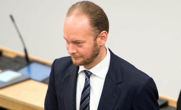 Perussuomalaisten eduskuntaryhmän puheenjohtaja Sampo Terho.